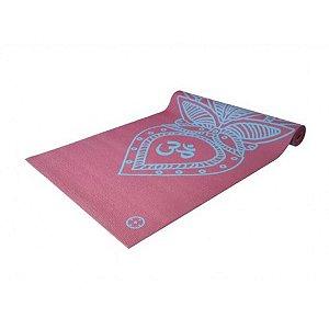 Tapete Yoga Mat em PVC ECO Lótus Hopumanu Rosa