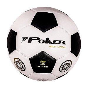 Bola Poker Futebol Society Grama Sintética Vulcanizada