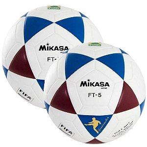 Kit 2 Bolas Futevôlei Mikasa Fifa Ft5 Tricolor