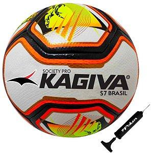 Bola Futebol Society kagiva S7 Brasil Pro Com Bomba