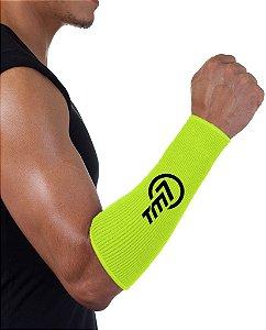 Protetor De Antebraço Para Voleibol-BRAC7 Amarelo Logo