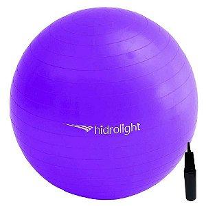Bola De Exercícios Pilates Hidrolight Com Bomba 65cm