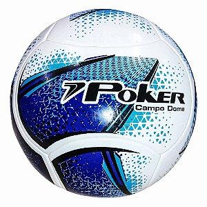 Bola de Futebol Campo Poker Dome Azul