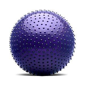 Bola De Massagem Roxo Fitness 65 Cm Com Bomba Hidrolight