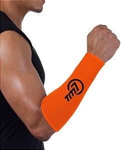 Protetor De Antebraço Para Voleibol BRAC7  Laranja logo Preto