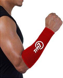 Protetor De Antebraço Para Voleibol BRAC7 Vermelho Logo