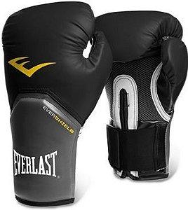 Luva de Boxe Everlast Pro Style Elite 12 OZ Preta