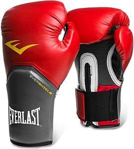 Luva de Boxe Everlast Pro Style Elite 12 OZ Vermelho