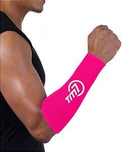 Protetor De Antebraço Para Voleibol BRAC7 Rosa Logo