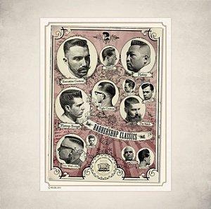 Poster Reuzel - Barbershop Classic  -   50 - 71cm