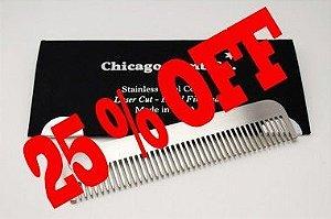 Pente Aço Inoxidável - Chicago Comb. Modelo # 1 - Matte ( Fosco -Texturizado )