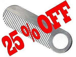 Pente Aço Inoxidável para Barba  - Chicago Comb No.2 Matte Moustache Comb ( Fosco -Texturizado )