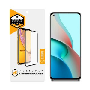 Película Defender Glass para Xiaomi Mi 11 Lite 5G - Preta - Gshield
