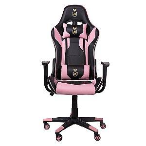 Cadeira Gamer Phantom Preta com Rosa - Corretor de postura + inclinação avançada - Gshield