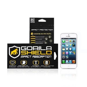 Película de vidro frontal e traseira para Apple iPhone 5, 5s -Gorila Shield