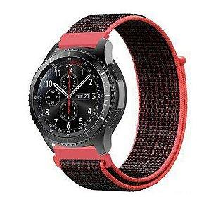 Pulseira Universal Ballistic Para Relógio 22mm - Rosa Coral - Gshield