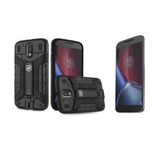 Capa Guardian e Película de Vidro para Motorola Moto G4 Plus - Gorila Shield
