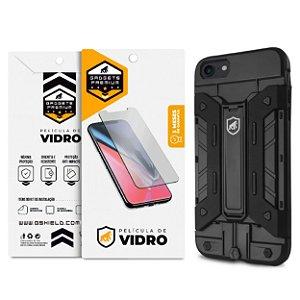 Kit Capa Guardian e Película de Vidro Dupla para Iphone 7 e 8 - Gshield