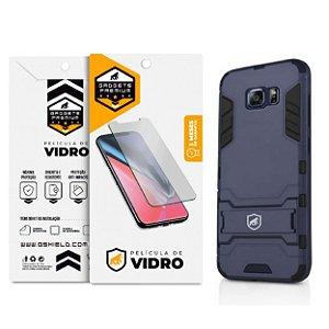 Kit Capa Armor e Película de Vidro Dupla para Samsung Galaxy S6 Flat - Gshield