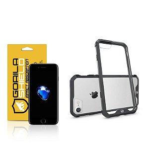 Kit Capa Ultra Slim Air Preta e Película de vidro dupla para Iphone 7 – Gorila Shield