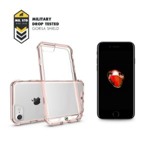 Kit Capa Ultra Slim Air Rosa e Película de Vidro para iPhone 7 Plus - Gorila Shield