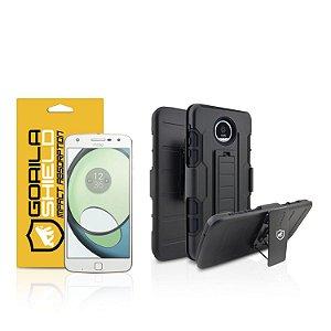 Kit Capa Clip e Película de vidro dupla para Motorola Moto Z Play - Gorila Shield