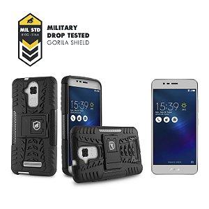 Kit Capa D-Shield e Película de vidro dupla para Asus Zenfone 3 Max - 5.2 Polegadas - ZC520TL - Gorila Shield