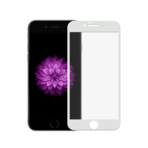 Película de Vidro Coverage Color para iPhone 6 Plus e 6S Plus - Branca - Gorila Shield (Cobre toda tela)