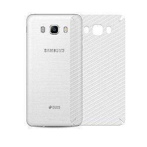 Película de Fibra de Carbono Traseira Transparente para - Samsung Galaxy J5 Metal  - Gorila Shield