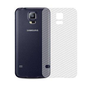Película de Fibra de Carbono Traseira Transparente para - Samsung Galaxy S5 - Gorila Shield