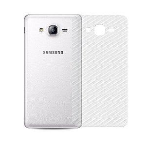 Película de Fibra de Carbono Traseira Transparente para - Samsung Galaxy On7 - Gorila Shield