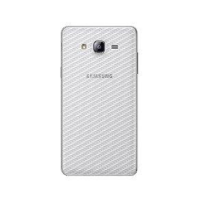 Película Traseira de Fibra de Carbono Transparente para Samsung Galaxy On7 - Gorila Shield