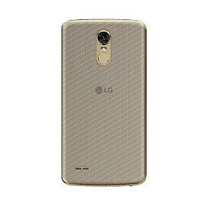 Película Traseira de Fibra de Carbono Transparente para LG K10 Pro - Gorila Shield