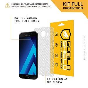 Película Nano Gel Dupla + traseira fibra de carbono para Samsung Galaxy A5 2017 – Gorila Shield (Cobre toda tela)