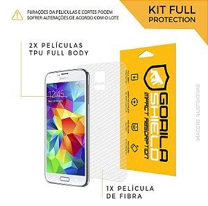 Película Nano Gel Dupla + traseira fibra de carbono para Galaxy S5 - Gorila Shield (Cobre toda à tela)