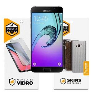 Película de Vidro Dupla + Traseira fibra de carbono para Samsung Galaxy A5 2016 - Gshield