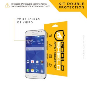 Película de vidro para Galaxy Core Prime – Double Protection – Gorila Shield