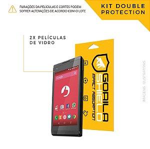 Película de vidro para Positivo Selfie – Double Protection – Gorila Shield