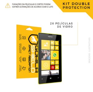 Película de vidro para Microsoft 525 – Double Protection – Gorila Shield