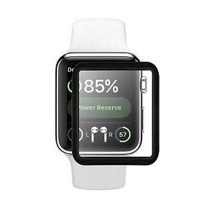 Película de Vidro Coverage Color para Apple Watch 38mm - Gorila Shield - Preta
