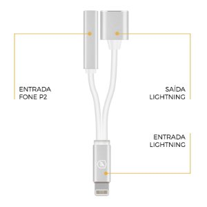 Adaptador 2 em 1 para iphone - Gorila Shield