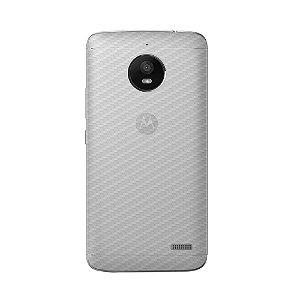 Película Traseira de Fibra de Carbono Transparente para Motorola Moto E4 - Gorila Shield