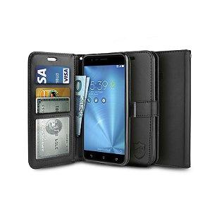 Capa Carteira Preta para Asus Zenfone 3 Zoom - Gorila Shield