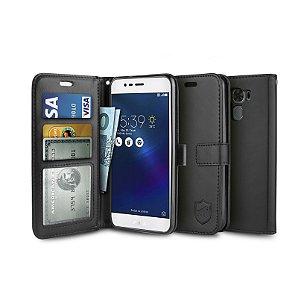 "Capa Carteira Preta para Asus Zenfone 3 Max 5.5"" ZC553KL - Gorila Shield"