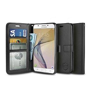 Capa Carteira Preta para - Samsung Galaxy J7 Prime - Gorila Shield