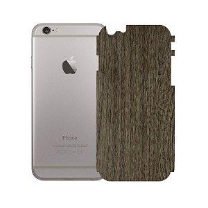 Skin Película Traseira Madeira Escura para Apple iPhone 6