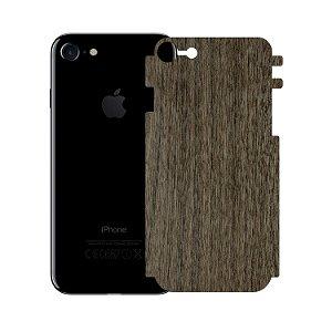 Skin Película Traseira Madeira Escura para Iphone 7 - Gorila Shield