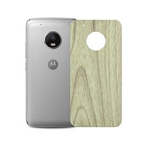 Skin Película Traseira Madeira Clara para Motorola Moto G5 - Gorila Shield
