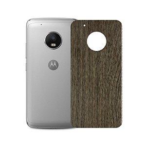 Skin Película Traseira Madeira Escura para Motorola Moto G5 - Gorila Shield