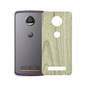 Skin Película Traseira Madeira Clara para Motorola Moto Z2 Play - Gorila Shield